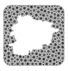 Map andorra - coronavirus mosaic with hole vector