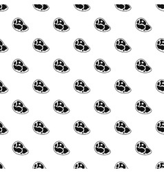Marble beef steak pattern simple style vector
