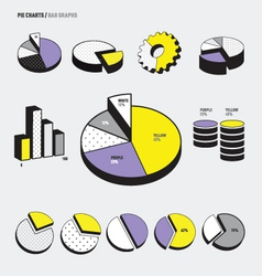 Pie Charts Infographic vector
