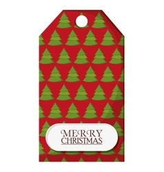 Pine tree label of Christmas season design vector