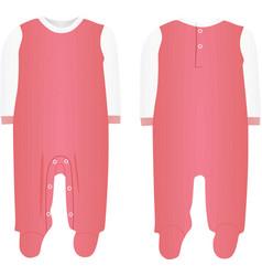 Pink babodysuit vector