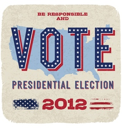 presidential election 2012 poster vector image