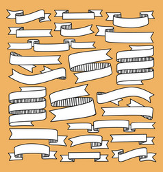 ribbon with hand drawn style vector image