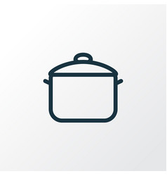 saucepan icon line symbol premium quality vector image