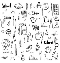 School doodle set vector