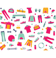 seamless background with clothes and accessories vector image
