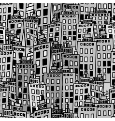 Seamless texture of urban homes Dense buildings vector image vector image