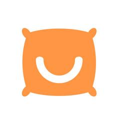 Smile pillow logo icon design template vector
