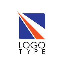 square stripe logo vector image