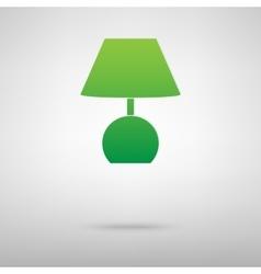 Stock green icon vector image