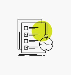Todo task list check time line icon vector