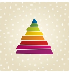 triangle shaped banner vector image