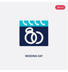two color wedding day icon from birthday party vector image