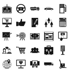 Waste of money icons set simple style vector