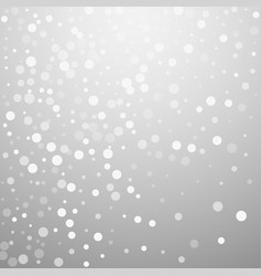 white dots christmas background subtle flying sno vector image