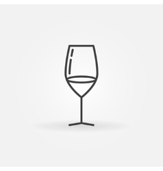 Wine glass icon vector