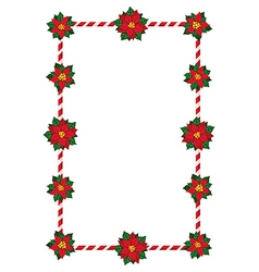 Christmas flowers frame vector image vector image