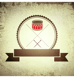 Drum Emblem vector image vector image