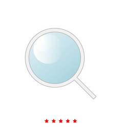 magnifying glass or loupe it is icon vector image vector image