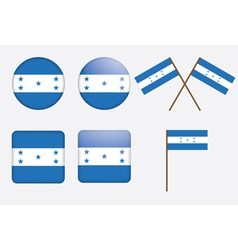 push buttons with flag of Honduras vector image vector image