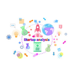 startup analysis concept business idea development vector image vector image