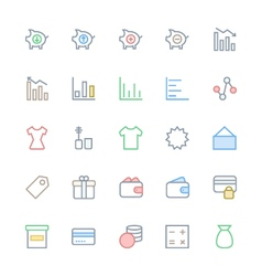 User Interface Colored Line Icons 37 vector image vector image