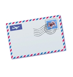 airmail envelop vector image vector image