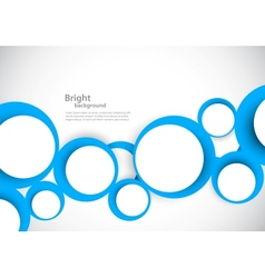 Background with blue circles vector image vector image