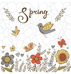Elegant spring post card vector image vector image
