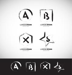 Grunge alphabet letter icon vector image