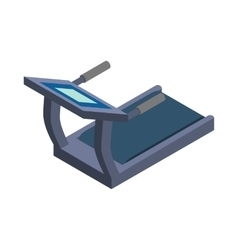 Treadmill icon isometric 3d style vector image