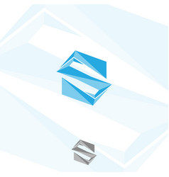 abstract geometric letter s vector image