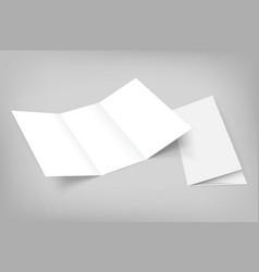 blank tri fold mockup on gray vector image