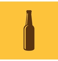 Bottle of beer icon beer and pub bar symbol ui vector