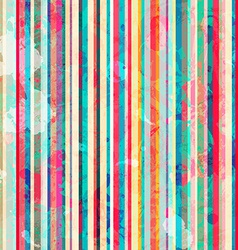 colored lines seamless pattern with blots effect vector image vector image