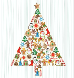 cookie christmas tree vector image vector image