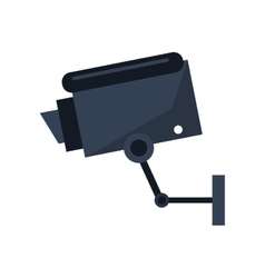 Isolated cctv camera design vector image