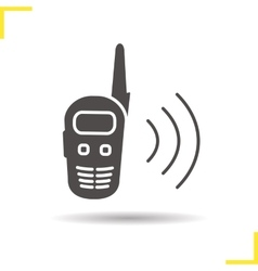 Radio set icon vector image
