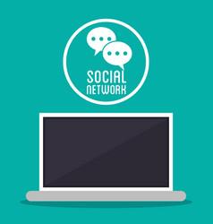 Social network computer message texting bubble vector