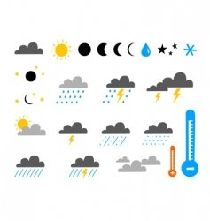 weather and climate vector image vector image