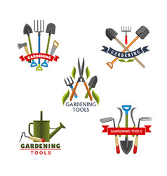 work tool and equipment icons for gardening design vector image