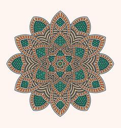 abstract round ornament circle mandala pattern vector image