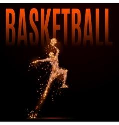 basketball man polygonal vector image vector image