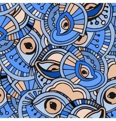 Blue eyes pattern vector image vector image