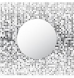 circle halftone dot abstract background vector image