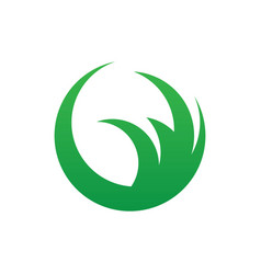 Circle leaf eco nature logo image vector