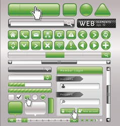 Green button for website and app vector image vector image