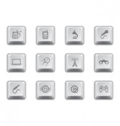 media keys vector image
