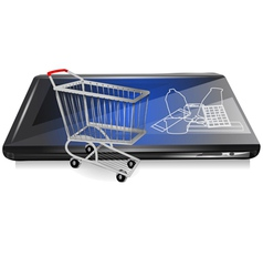 retail on line vector image vector image