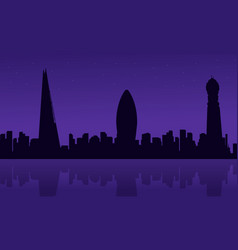 silhouette of london city building scenery vector image vector image
